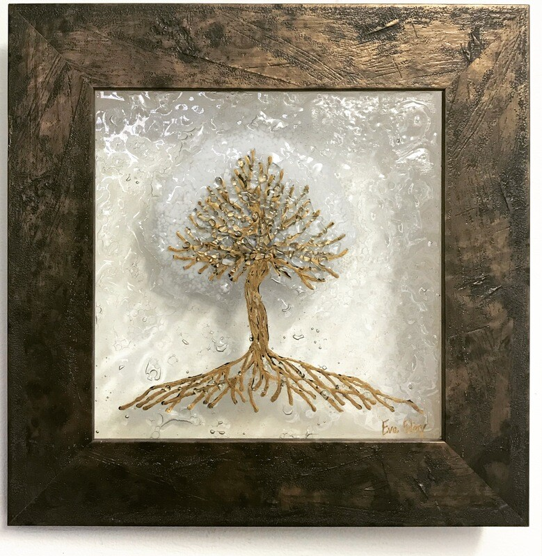 'Tree of Life' in white & gold