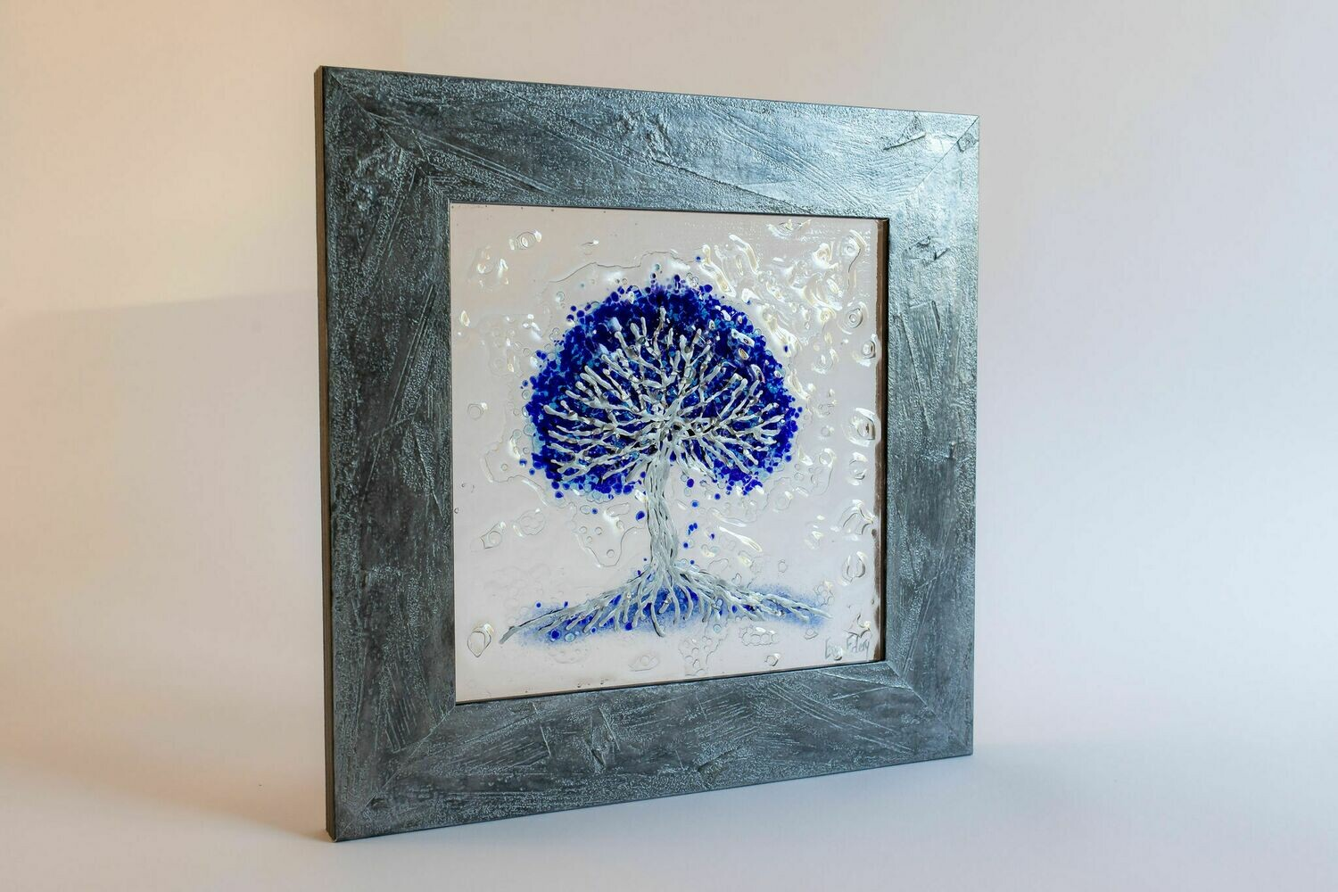 'Tree of Life' in blue & silver
