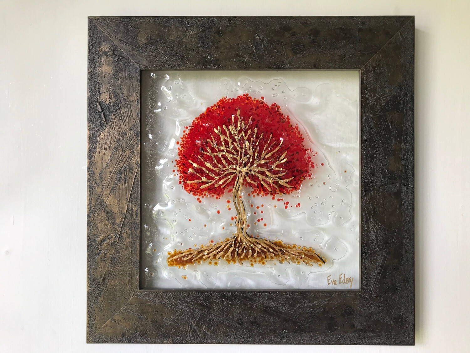 'Tree of Life' in gold & red