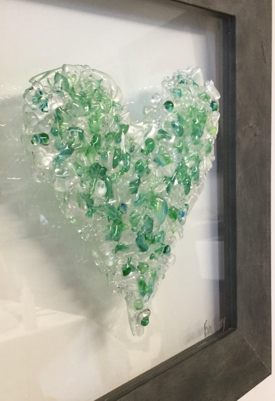 Heart Beat in Green Hues