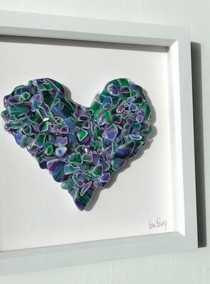 Heart Beat in Purple & Green