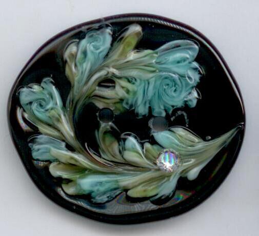2019 Favor Button, Black Glass