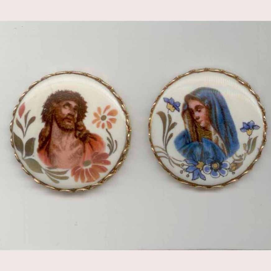 Jesus and Mary, Transfer on Porcelain
