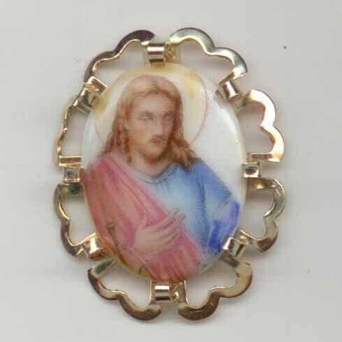 Jesus, Porcelain in Metal