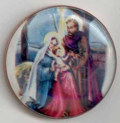 Holy Family, Paper under Glass