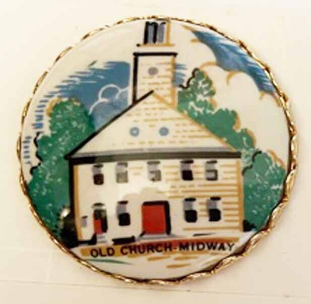 """""""Old Church Midway"""", Porcelain in Metal"""