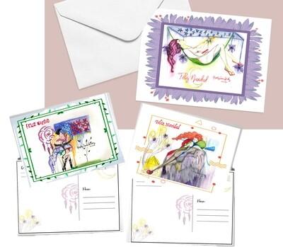 Postales de Navidad (Paquete de 3)