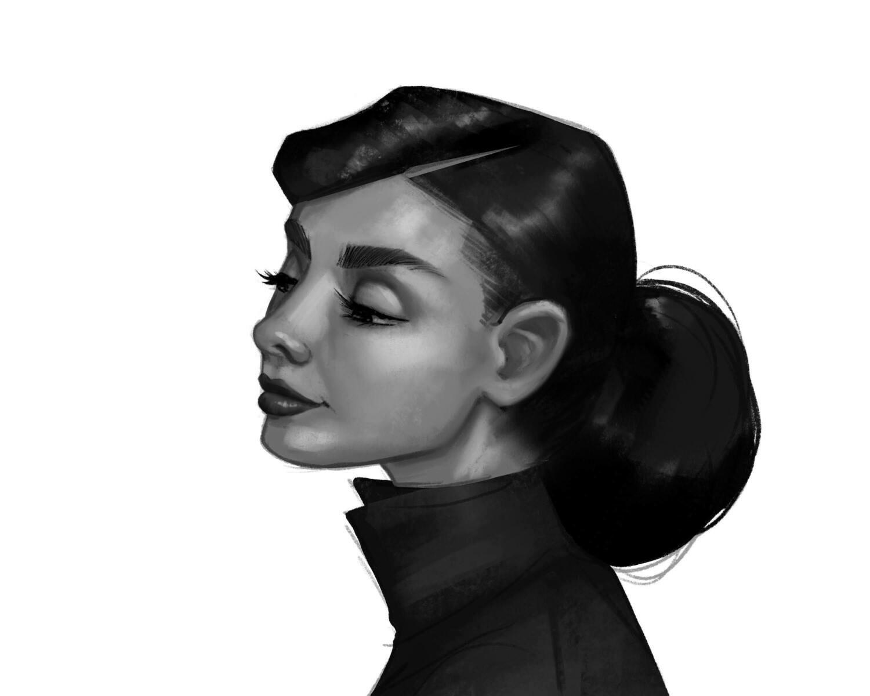 Audrey Hepburn Portrait No.2