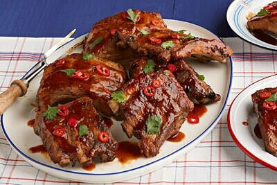 Smokin' Summer Mesquite Smoked Thai BBQ Pork Baby Back Ribs