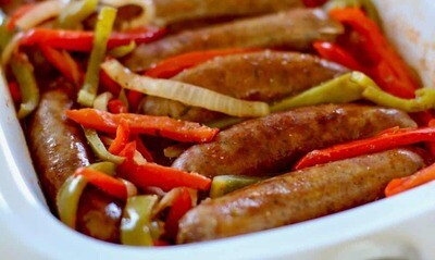 Smokin' Summer Pecan Smoked Sausage and Peppers