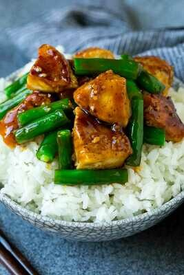 Torrey Pines Orange Ginger Chicken and Green Beans