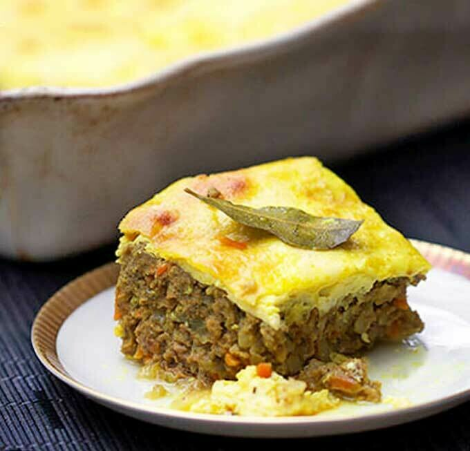South African Bobotie and Sweet Potatoes