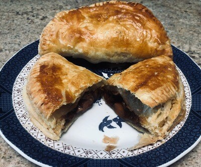 Puffed Pastry Savory Bobotie Meat Pies (Curried Ground Beef) - 6 Hand Held's or 4 Pot Pie's