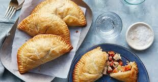 Puffed Pastry Savory American Creamy Chicken Pot Pies - 6 Hand Held's or 4 Pot Pie's