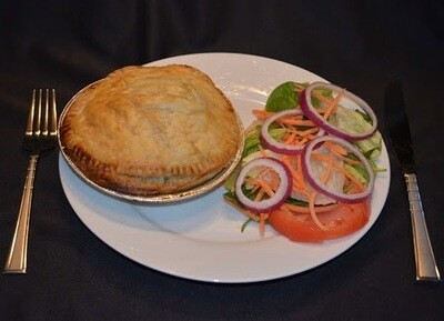 APU Food Truck Curry Ground Beef Pot Pie for 2