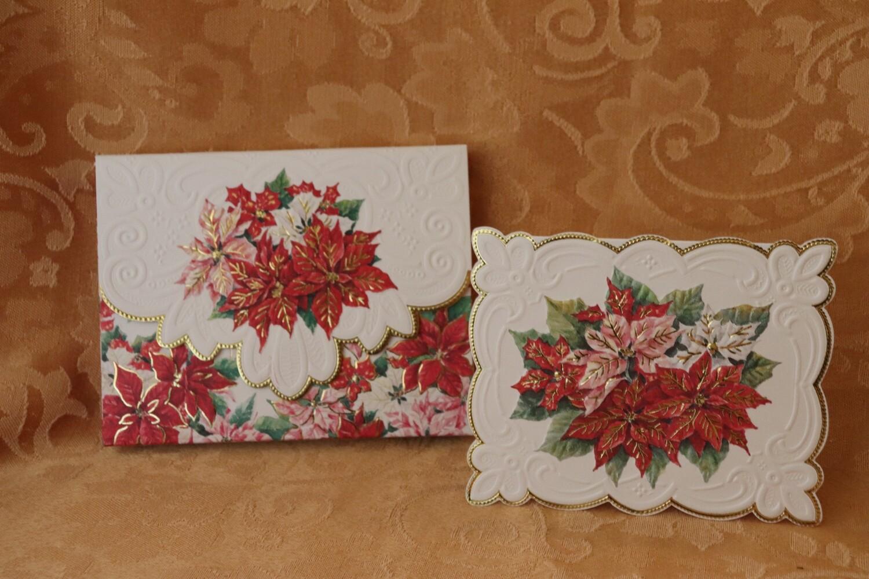 Poinsettia Note Card Set