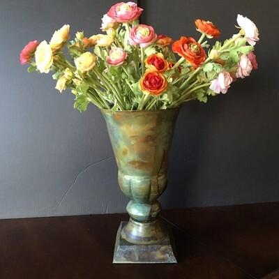 Metal Trumpet Vase