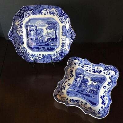 Spode Blue Italian Plate Collection