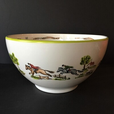 Hunt Theme Porcelain Bowl