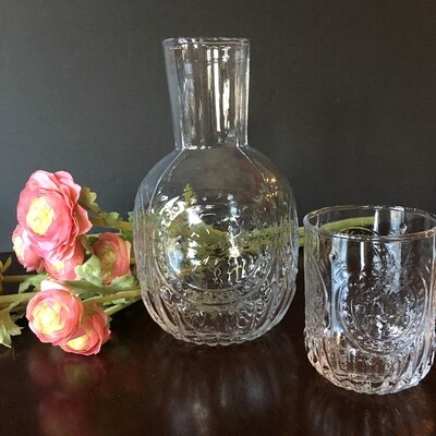 Vintage Flask & Tumbler Set