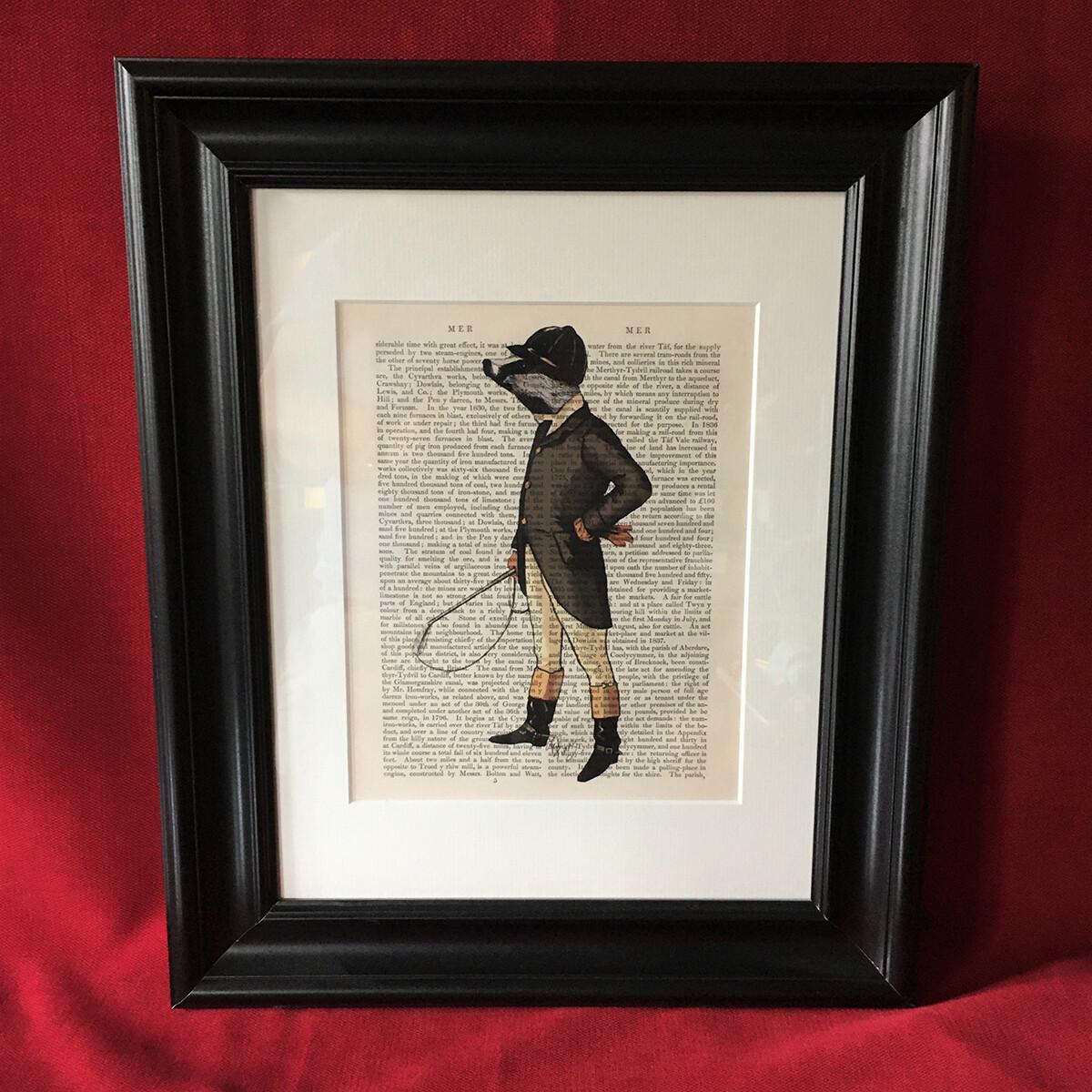 British Badger Framed Print
