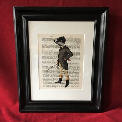 British Badger Framed Print