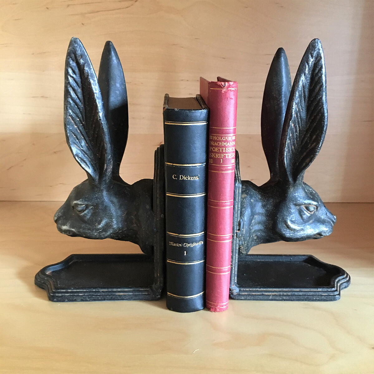 Handsome Hare Bookend Set