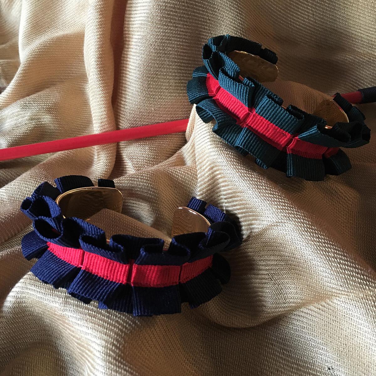 Equestrian Ruffled Cuff Bracelet