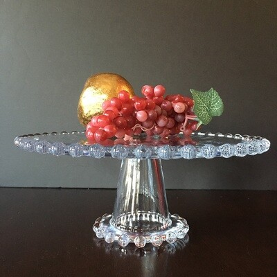 Beaded Edge Glass Pedestal