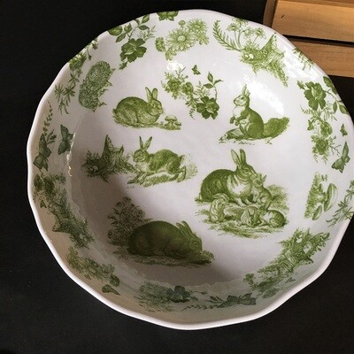 Garden Toile Melamine Serving Bowl