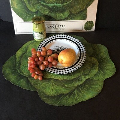 Cabbage Garden Paper Placemats