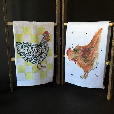 Country Chicken Tea Towels