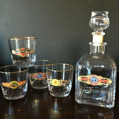 Cigar Label Decanter Set
