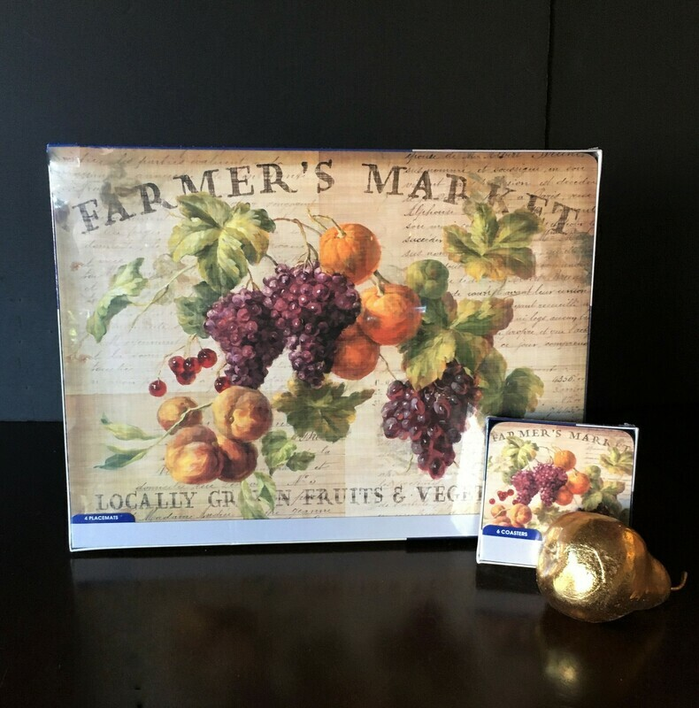 Vineyard Fruits Placemats and Coasters