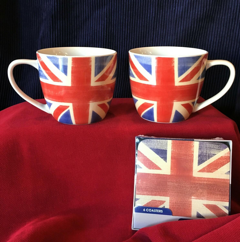 Union Jack Mug and Coaster Set