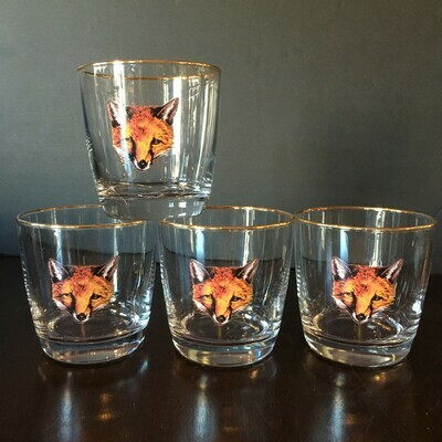 Fox Mask Tapered Glassware Set