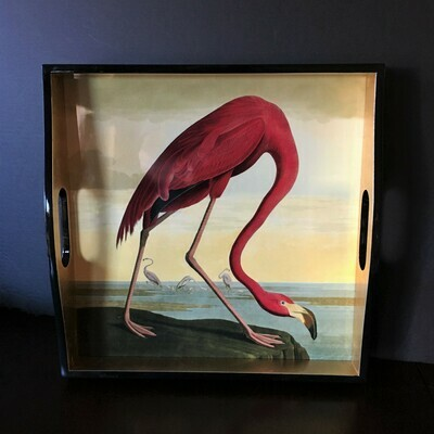 Audubon Flamingo Lacquered Tray