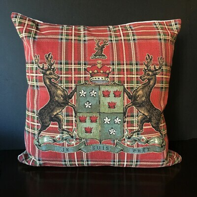 Red Tartan Scottish Highlands Pillow