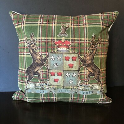 Moss Green Tartan Scottish Highlands Pillow