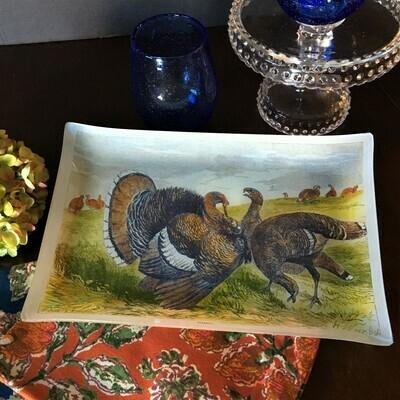 Archival Turkey Glass Serving Plate