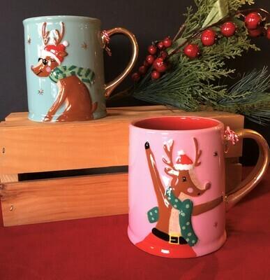 Holiday Reindeer Gift Mugs