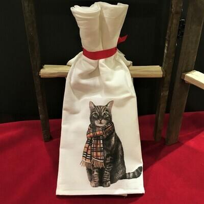Brrr-berry Cat Flour-Sack Kitchen Towel Set