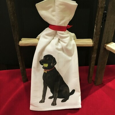 Black Lab Kitchen Towel Set