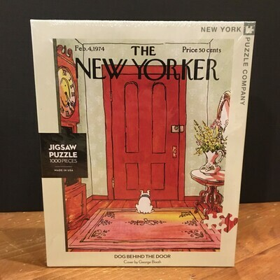 New Yorker Jigsaw Puzzle - Dog Behind the Door