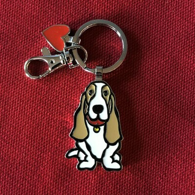 Basset Hound Key Chain