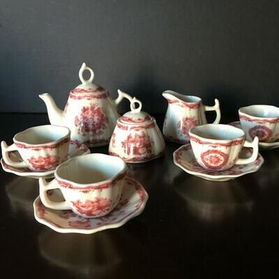 Child's Miniature Porcelain Tea Serving Set