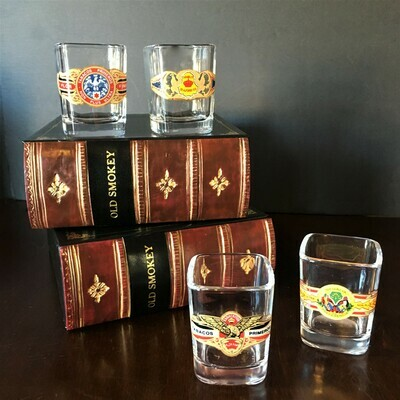 Cigar Lovers Shot Glasses in a Box