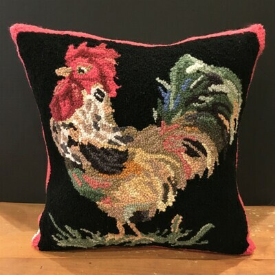 French Country Rooster Pillow