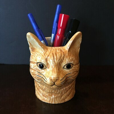 Ginger Cat Pencil Pot