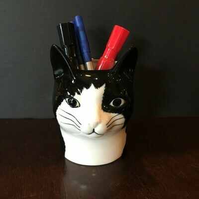 Tuxedo Cat Pencil Pot